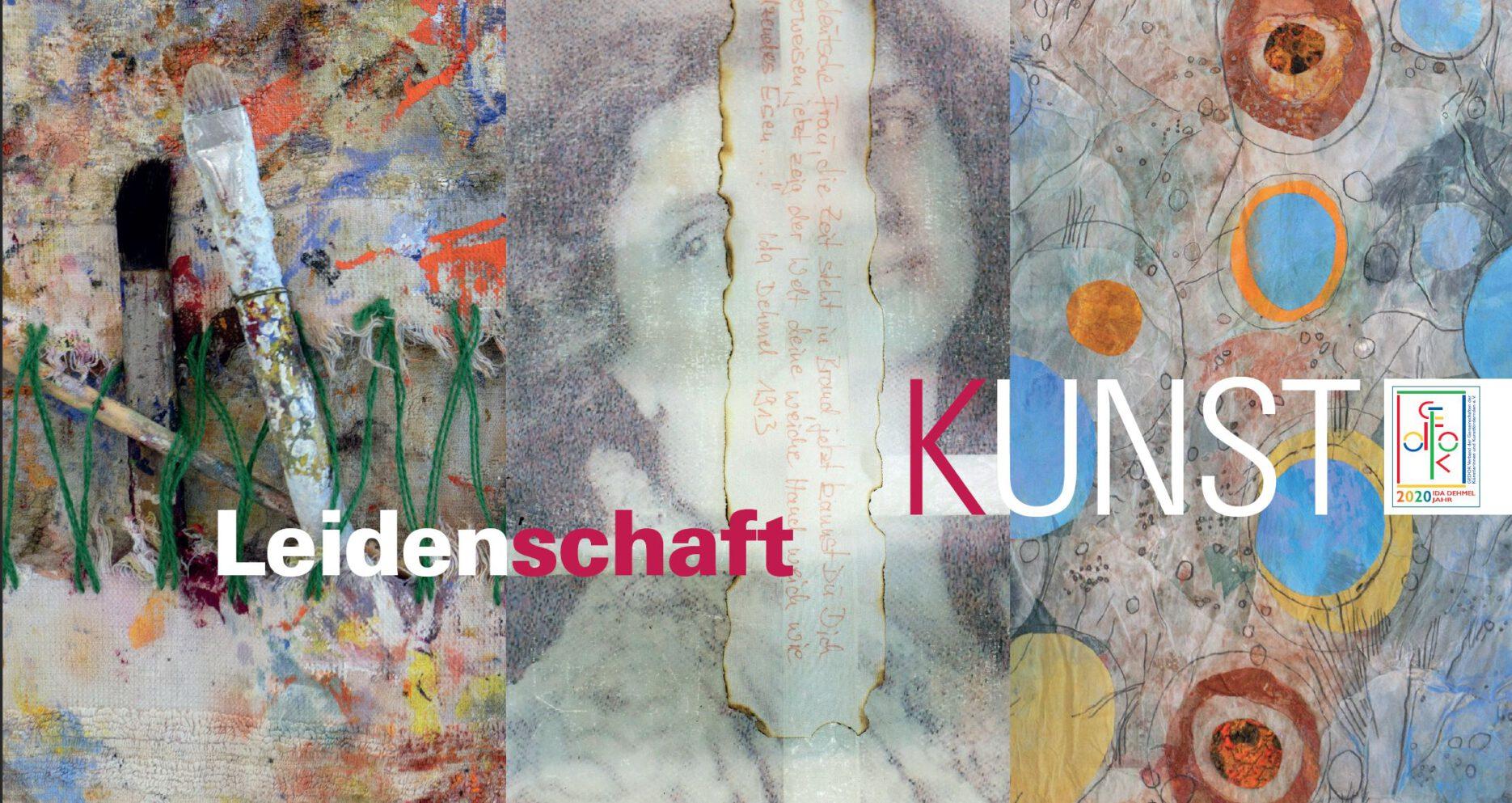 """Einladungskarte der GEDOK Ausstellung """"Leidenschaft Kunst"""""""